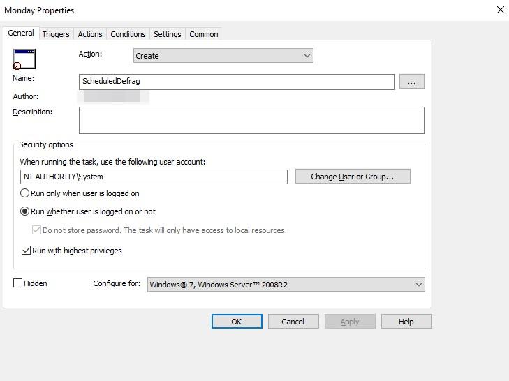 Как сделать групповую политику gpo дефрагментация жестких дисков на серверах windows.