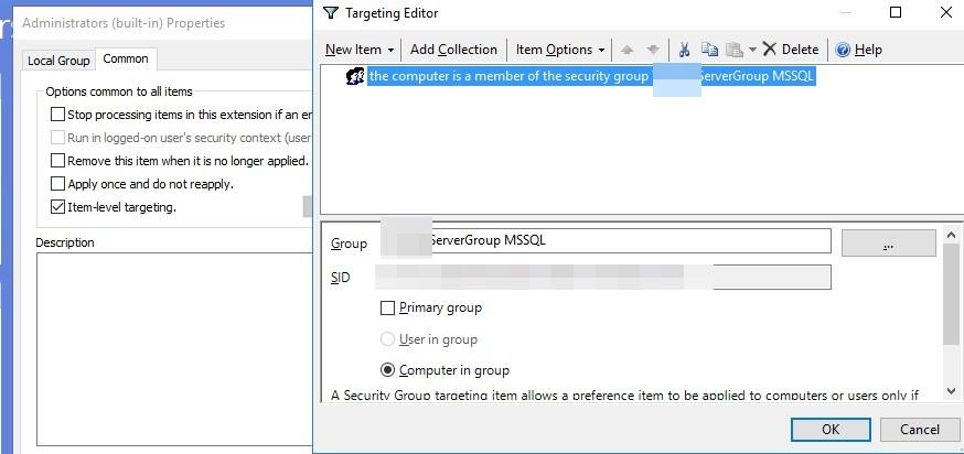 Как сделать групповую политику GPO для изменения администратора и группы администратора на серверах по назначению.